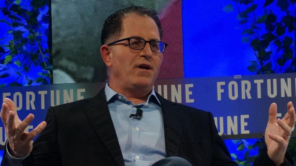 Michael Dell, CEO of Dell Technologies, speaks at the Fortune Brainstorm Tech conference in Aspen, Colorado.