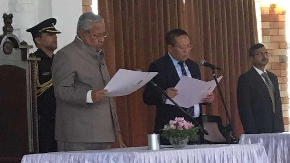 TR Zeliang,Nagaland CM,Shurhozelie Liezietsu