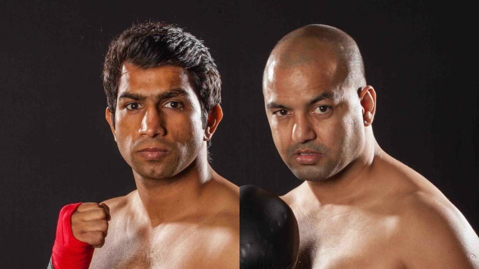 Jitender Kumar (L) and Akhil Kumar will make their pro boxing debuts on August 5.