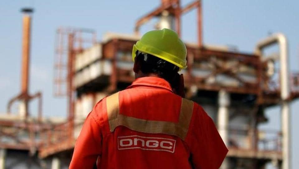 A technician is pictured inside a desalter plant of Oil and Natural Gas Corp (ONGC) on the outskirts of Ahmedabad.