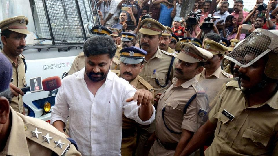 Malyalam actor Dileep being sent to judicial custody.