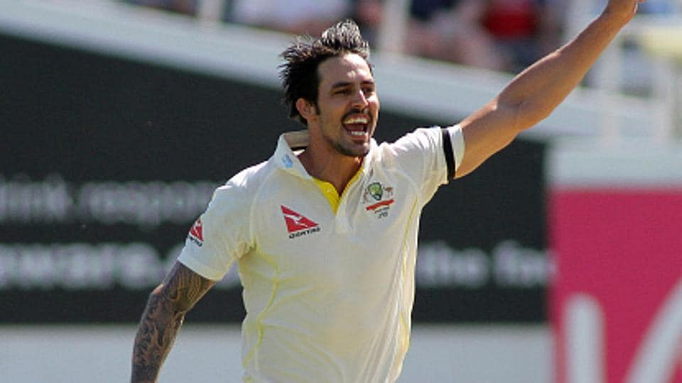 Mitchell Johnson took a dig at England's surrender in the second Test to South Africa.