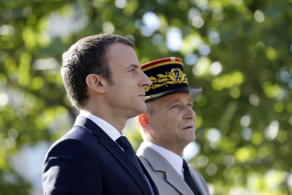 French Army Chief of Staff Gen Pierre de Villiers,French President Emmanuel Macron,Nato