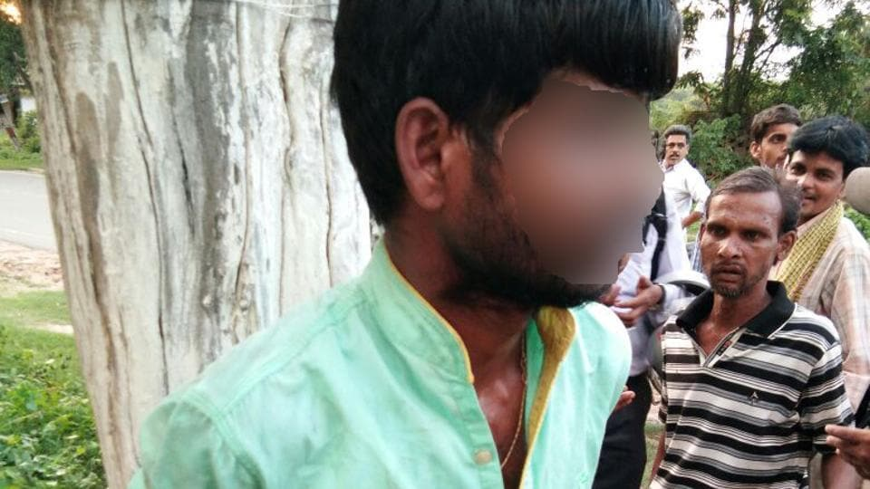 Afroz was tied to a tree and thrashed by villagers for allegedly smuggling cows.