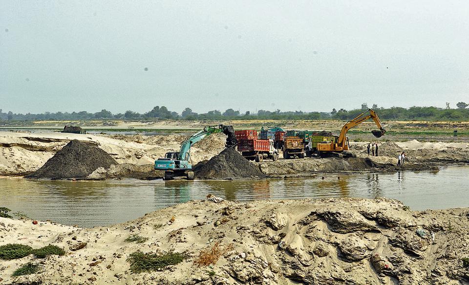 Noida,Noida news,sand mining