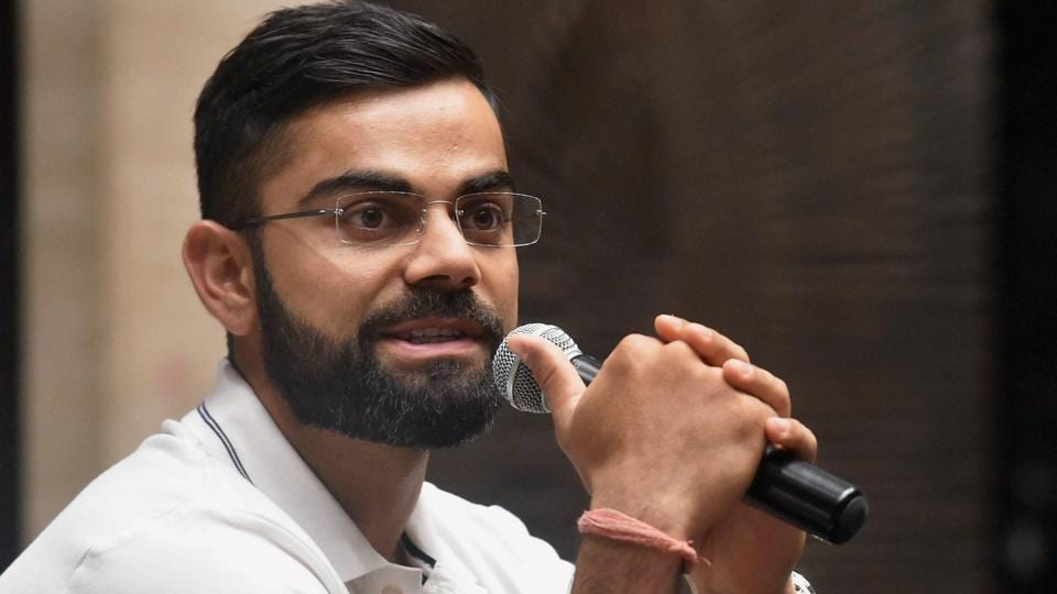 India national cricket team captain Virat Kohli during a press conference in Mumbai before leaving for Sri Lanka tour on Wednesday.