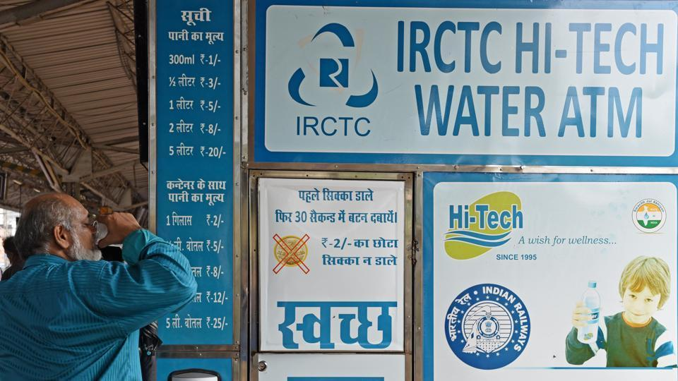 Currently, there are 20 water vending machines on the Western Railway.