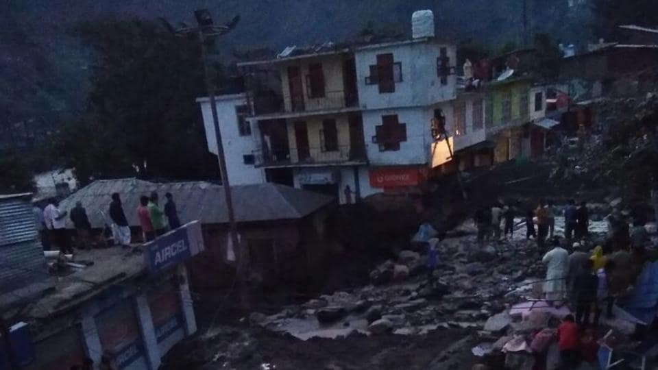 The cloudburst hit Thathri town after midnight triggering a flash flood in the area.