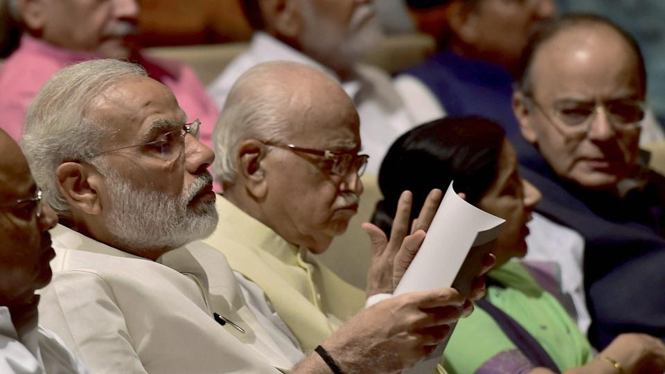 Prime Minister Narendra Modi at the BJP parliamentary party meeting at Parliament House in New Delhi on July 19, 2017.