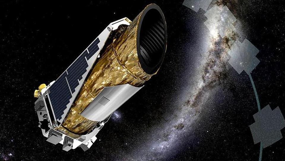 The artistic concept shows NASA's Kepler spacecraft operating in a new mission. (Photo courtesy: NASA)