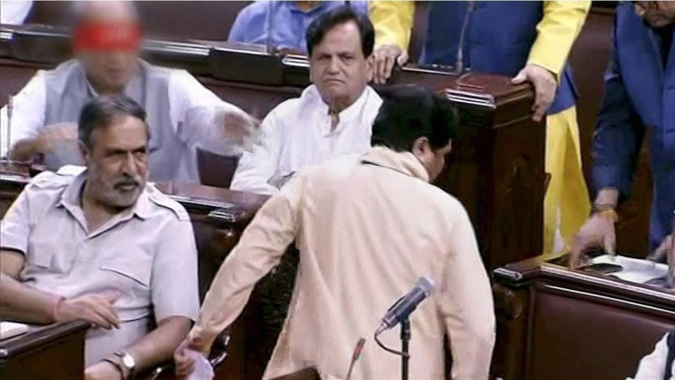 BSP chief Mayawati walks out from the Rajya Sabha on July 18 claiming she wasn't being allowed to speak in the Parliament.
