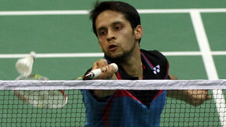 Kashyap Parupalli in action against Lee Hyun Il during USOpen in Anaheim.