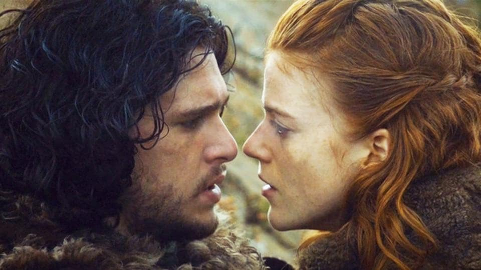 Kit and Rose played Jon Snow and Ygritte on the show.