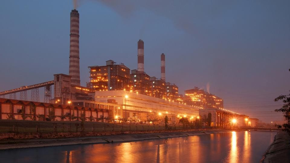 The NTPC Kahalgaon super thermal power plant in Bihar's Bhagalpur district.