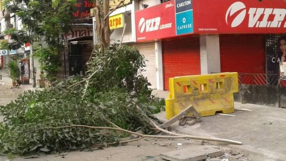 Tree cutting,Linking Road,SV Road
