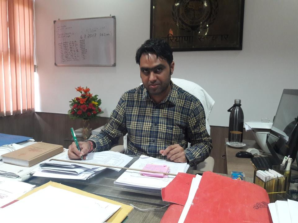 Gurgaon's new district town planner RS Bhath took charge on Friday.