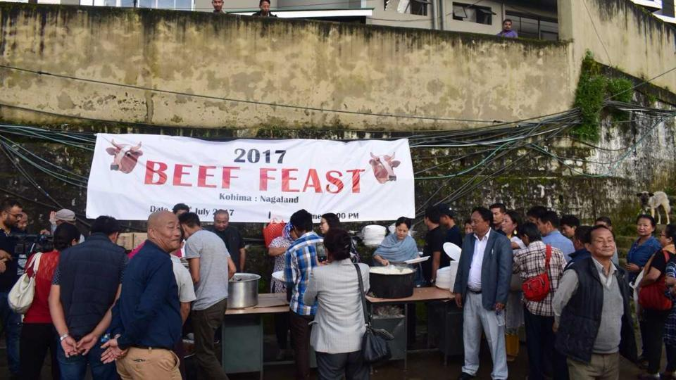 Nagaland party members hold beef fest, invite 'partisan' governor to dinner