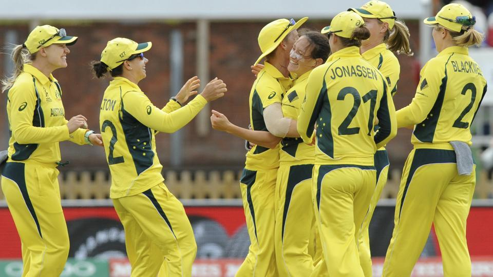 Australia struck again when they removed opener Punam Raut in the 10th over, making India struggle at the start. (AP)
