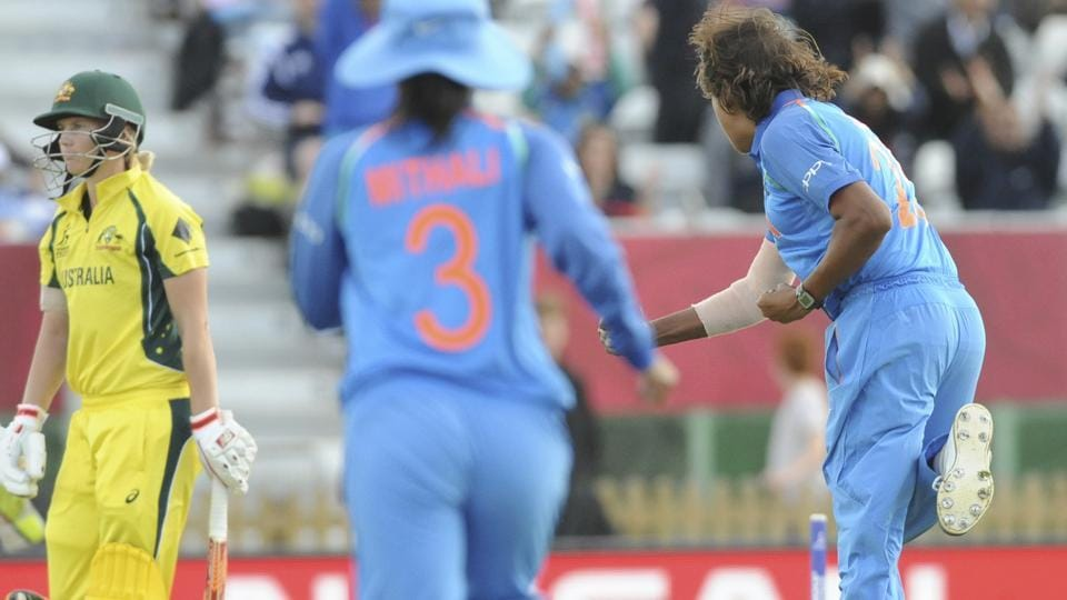 Veteran India pacer Jhulan Goswami also picked up two crucial wickets. (AP)