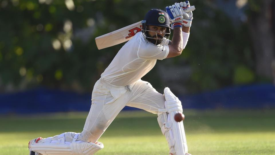 The Indian cricket team skipper was unbeaten on 34 at the end of day's play with Ajinkya Rahane (30). (AFP)