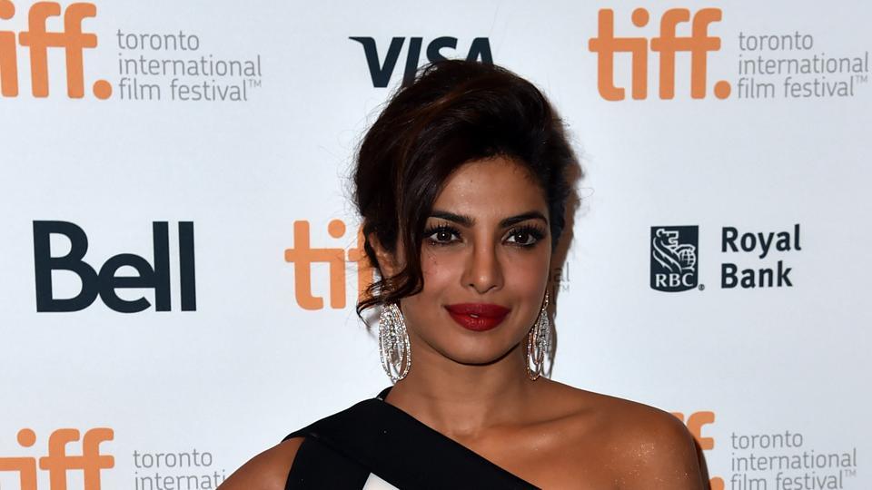Priyanka Chopra at the red carpet premiere of Mary Kom at TIFF in 2014.