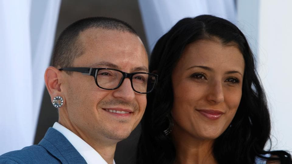 Chester Bennington Of Linkin Park And Wife Talinda Arrive At The 2012 Billboard Music Awards In