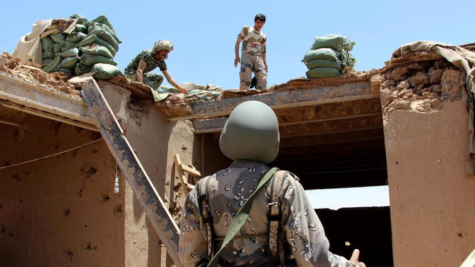 The incident took place Friday 5pm as Afghan security forces were clearing a village of Taliban elements.