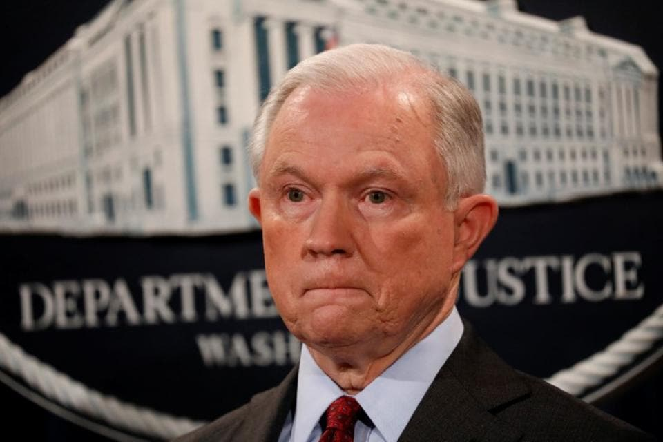 US attorney general Jeff Sessions,Donald Trump,White House
