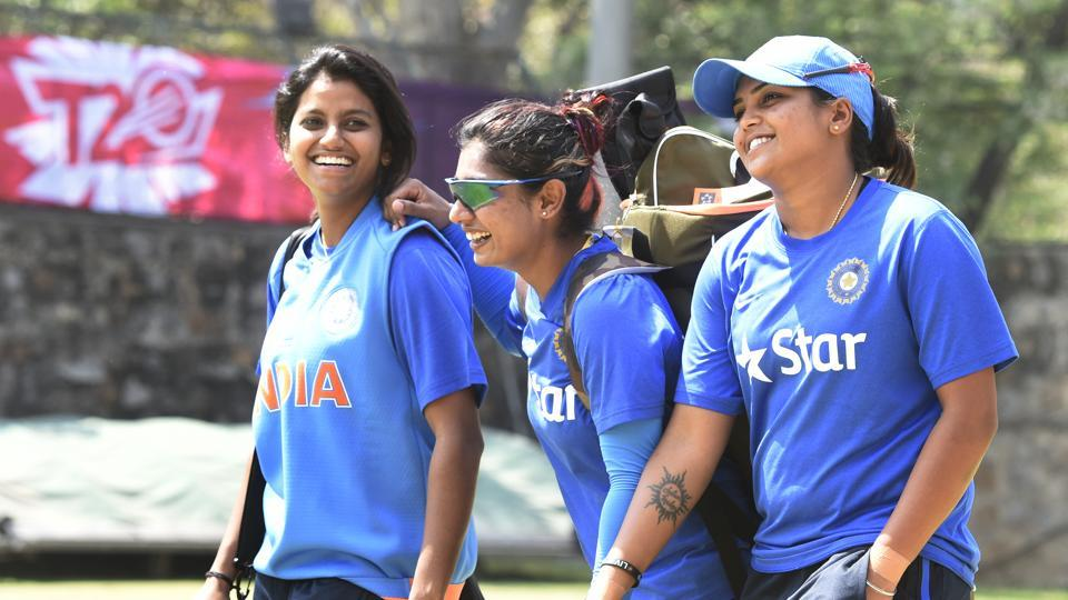 Mithali Raj shared an amusing moment with Veda Krishnamurthy (R) during India's ICC Women's World Cup semi-final against Australia.