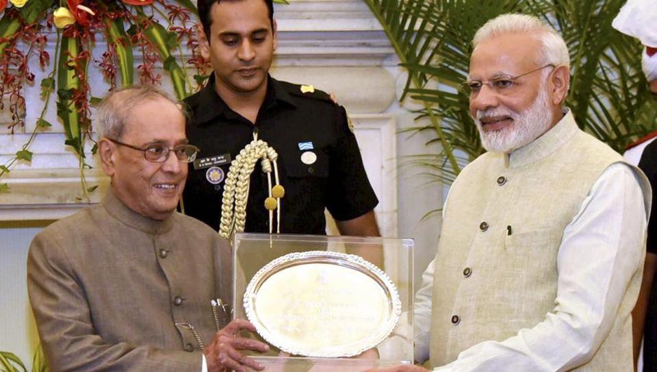 Pranab Mukherjee,Modi,President of India