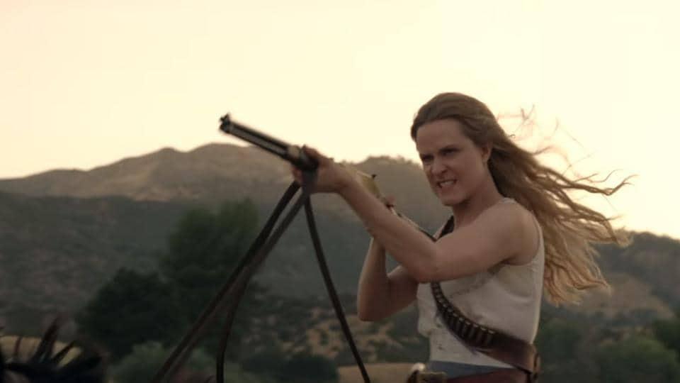 Evan Rachel Wood stars as sentient humanoid, Dolores.