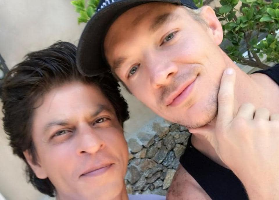 Shah Rukh with DJ Diplo.