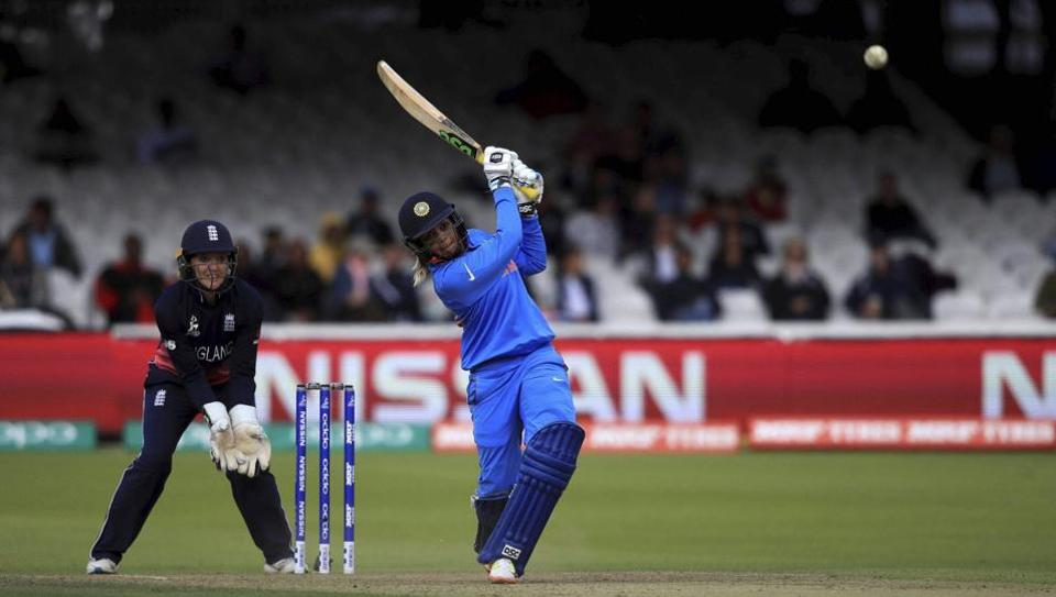 India's Veda Krishnamurthy bats during the ICC Women's World Cup 2017 final match against England at Lord's in London, England, Sunday. Get full score and highlights of India vs England, Women's Cricket World Cup final 2017, here.