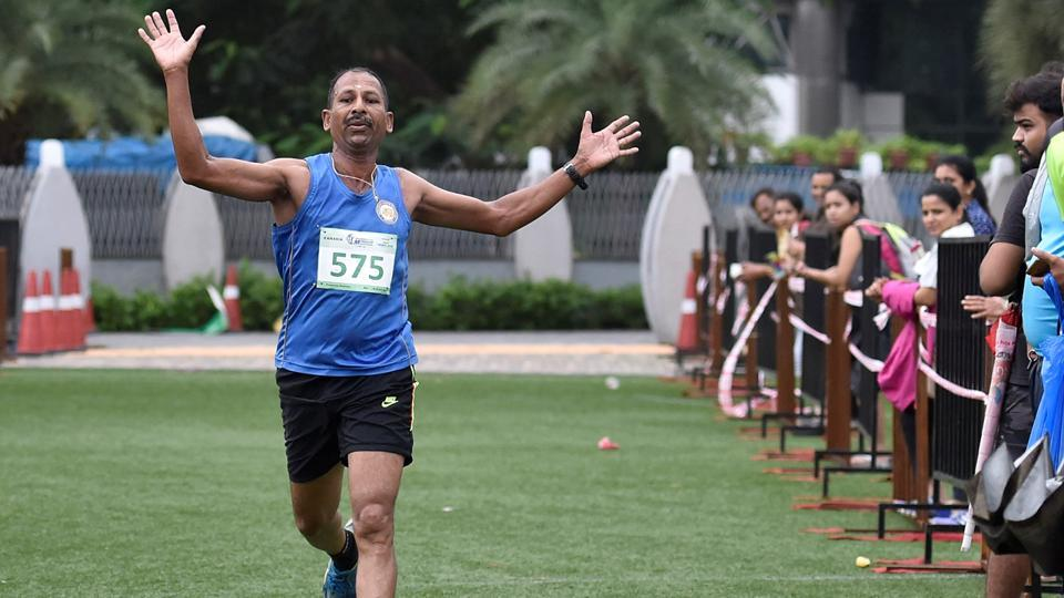 Prasanna Krishna, also a winner of the 5-km run. (Satish Bate/HT Photo)
