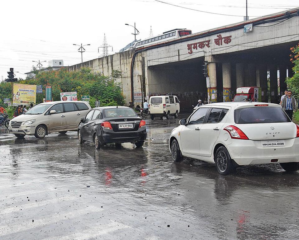 Bhoomkar chowk near Wakkad in Pune serves as an entry point to the IT park road.