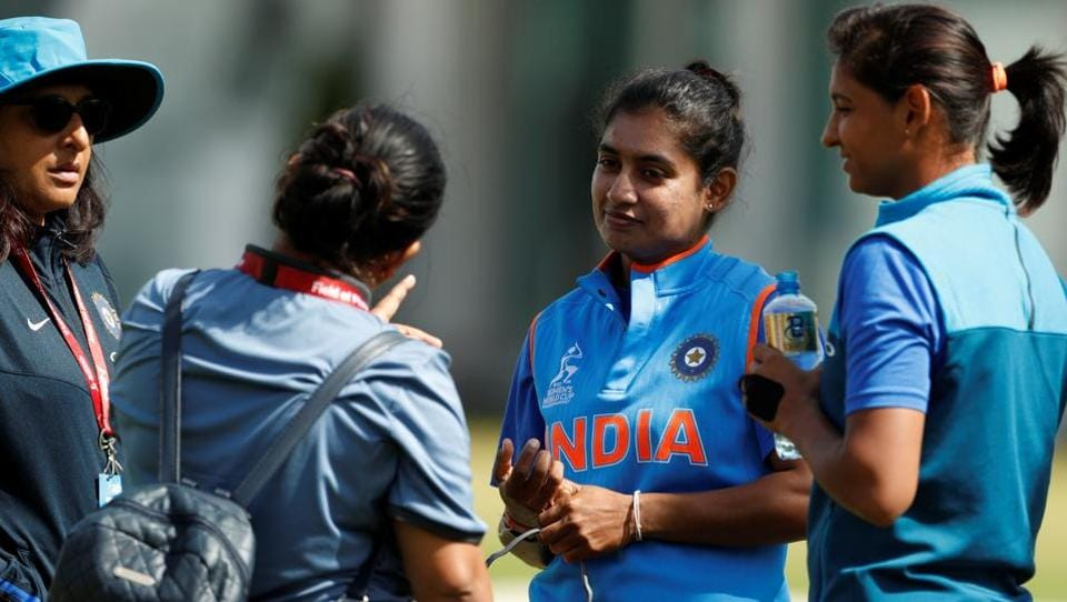 India's Mithali Raj during nets ahead of the Women's Cricket World Cup.