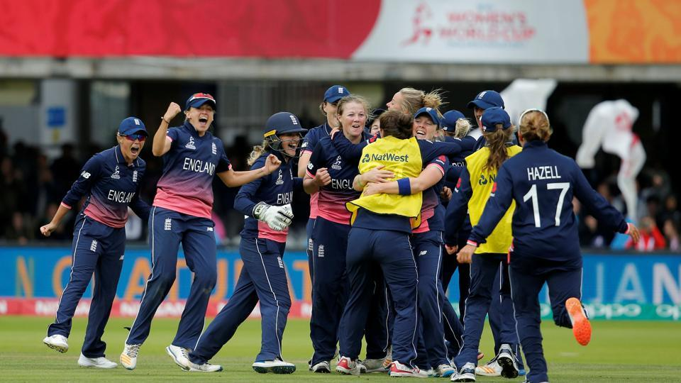England beat India by nine runs to win their fourth Women's World Cup title. Catch full cricket score and highlights of India vs England, Women's Cricket World Cup final 2017, here