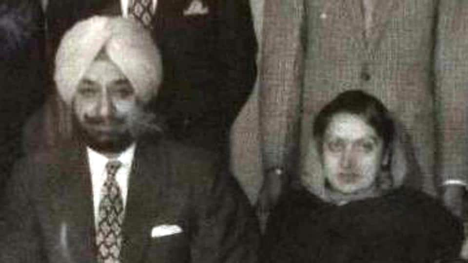 Mohinder Kaur with her husband Yadavindra Singh.