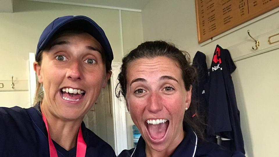 England players strike a pose in the dressing room after winning the ICC Women's World Cup (ICC FACEBOOK)