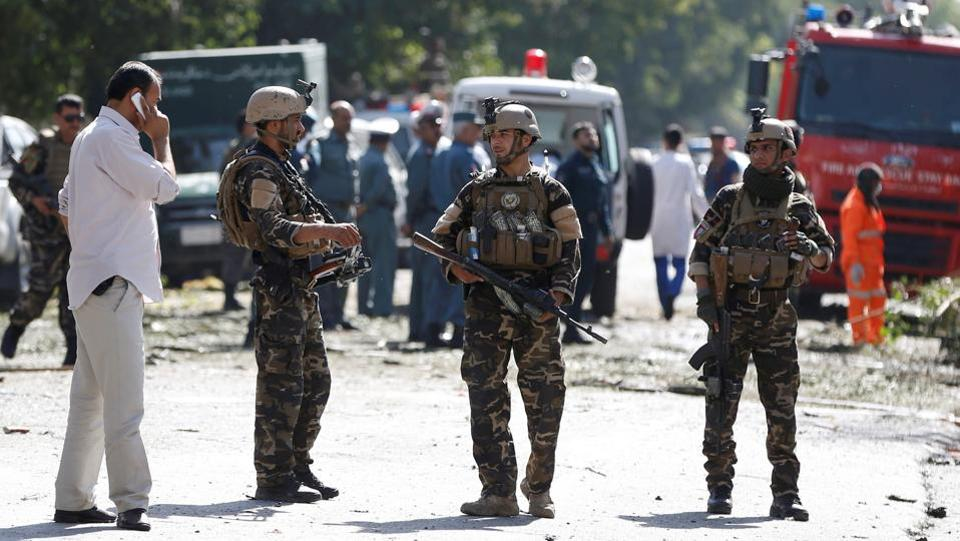 The attack happened in the western part of the city during rush hour, and mainly killed employees of the Afghan ministry of mines and petroleum, according to Kabul police. (Omar Sobhani / REUTERS)