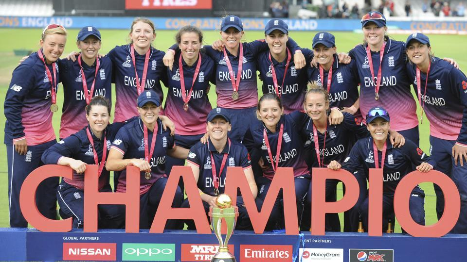 England clinched the ICC Women's World Cup for the fourth time after defeating India in a dramatic final by nine runs in Lord's on Sunday. (AP)
