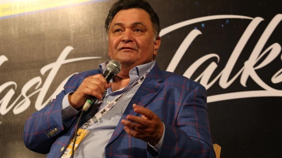 Actor Rishi Kapoor at Jagran Film Festival in New Delhi.