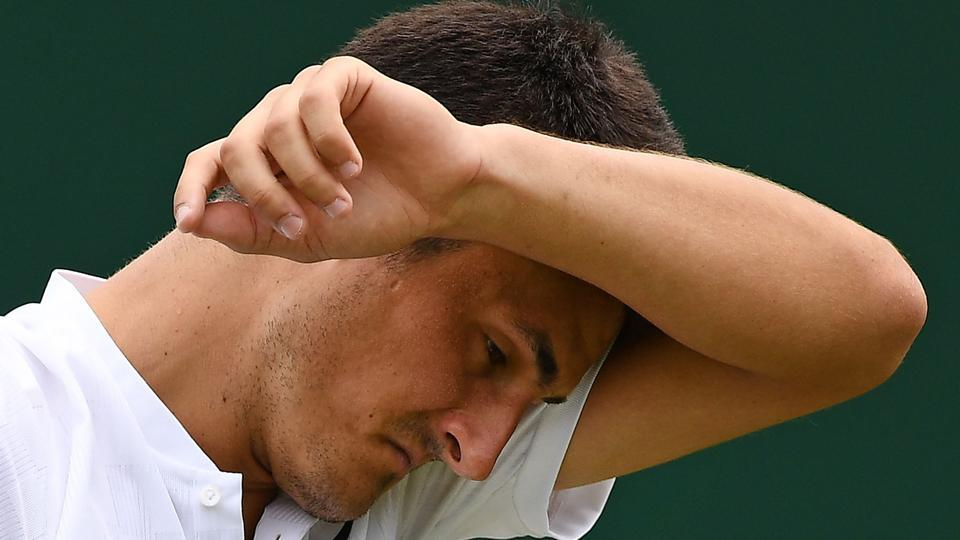 Bernard Tomic exited the Wimbledon after losing 3-6,4-6 3-6 to Germany's Mischa Zverev