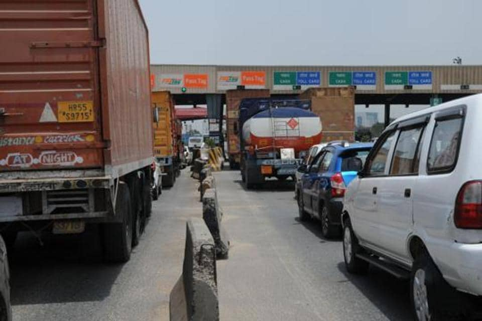 A private operator is managing the Kherki Daula toll, which has 32 lanes.
