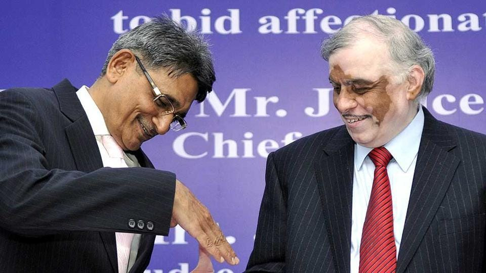 Justice R.M.Lodha (L) has criticised the BCCI for not implementing reforms in a timely manner.