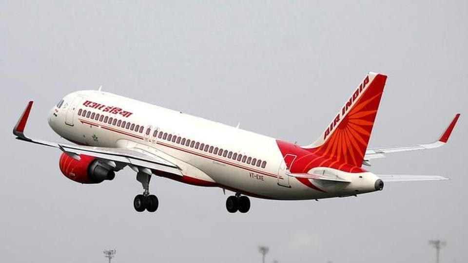 An Air India aircraft takes off from the Sardar Vallabhbhai Patel International Airport in Ahmedabad.