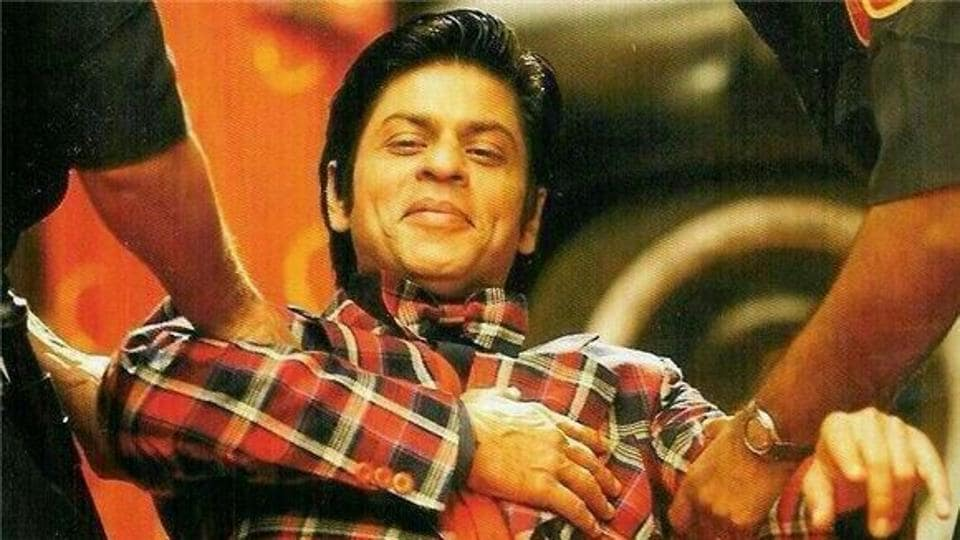 Shah Rukh Khan in a  still from Om Shanti Om.