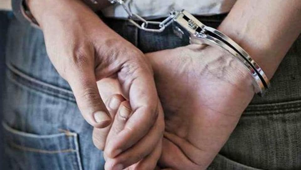 The policemen were arrested in Rajouri district for peddling drugs.