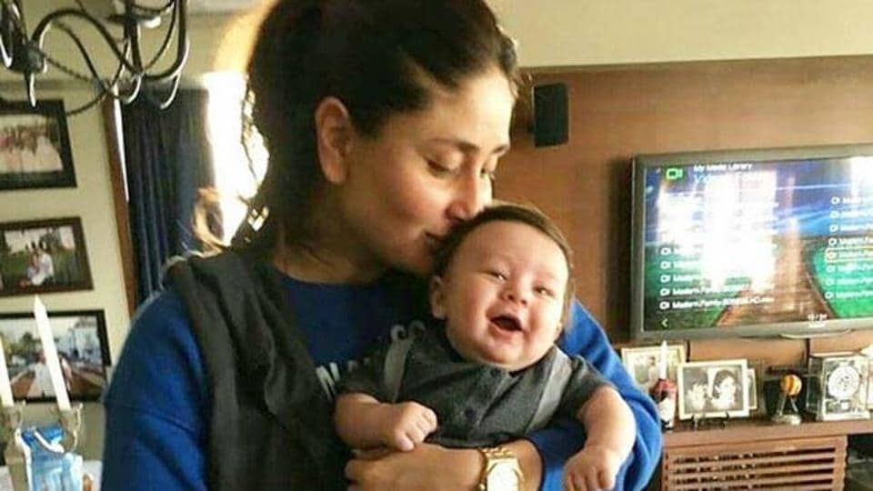 Kareena Kapoor Khan says she kisses son Taimur so much, he pushes her away.