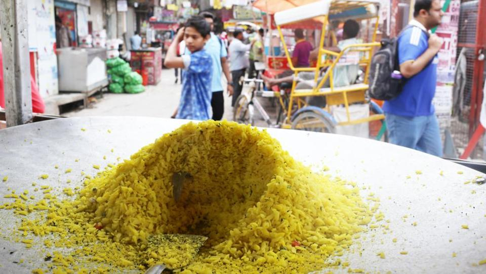 This spicy puffed-rice snack is a beloved tea-time staple at home, but it hardly qualifies as Delhi's street food.